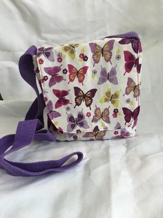 Summer Fresh Messenger Bag, Butterfly Cross body Bag, Colourful Bag £10.50 Summer Fresh, Summer Feeling, Small Crossbody Bag, Little Bag, Gifts For Mum, Butterfly Print, Cross Body, Diaper Bag, Messenger Bag