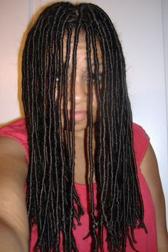 Saleemah of HydraTherma Naturals is currently rocking synthetic locs. Check out her explanation of how to apply, style and care for them. Why did you get synthetic locs? S: Honestly, I love the loo… Headband Hair Extensions, Types Of Hair Extensions, Hair Extensions For Short Hair, Lace Closure, School Hairdos, Jessica Simpson Hair Extensions, Faux Dreads, Short Hair Styles, Natural Hair Styles