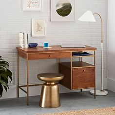 Nook Desk #westelm- MICHAEL i dont even care how much it cost, lets get this for the bedroom!!!!!!!!!!! soooo pretty