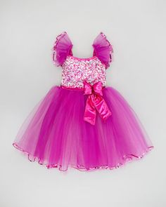 Sequin and Tulle Dress-Up Dress, Fuchsia  by A Wish Come True at Neiman Marcus.