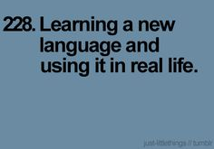 I want to learn (and be conversational in) Spanish, Amharic, ASL.  I took eight years of French, but never got to practice it, but I realized that my French accent is so atrocious, I'm probably better off learning another language.
