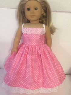 3 Pc Easter dress with bonnet Doll not included