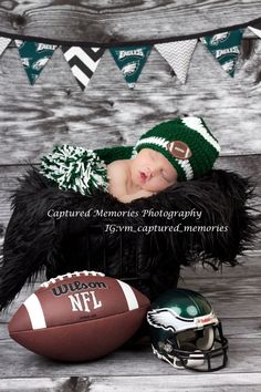 Hey, I found this really awesome Etsy listing at… Baby Boy Pictures, Newborn Pictures, Baby Photos, Cute Pictures, Football Baby Shower, Cutest Babies Ever, Philadelphia Eagles Football, Football Themes, Toddler Photos