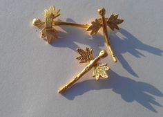 2 Pcs Gold Plated Brass Dragonfly CharmsConnector by AZsupplies, $1.45