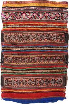 モン族 刺繍 古布