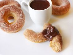 Cinnamon Baked Doughnuts and Mexican-Style Chocolate Sauce