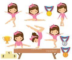Gymnastics Party, Gymnastics Girls, Gymnastics Suits, Kids Cartoon Characters, Cartoon Kids, Gymnastics Wallpaper, Baby Gym, Marker Art, Mermaid Birthday