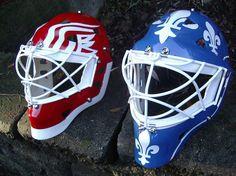 Goalie masks - vintage color scheme