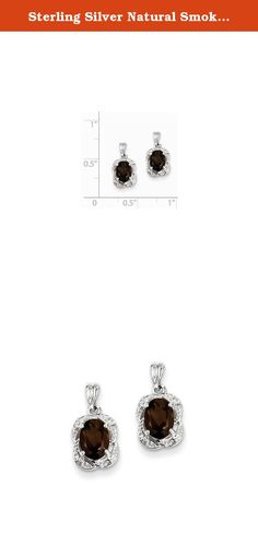 Sterling Silver Natural Smoky Quartz And Natural Diamond Earrings. Look fashionable with these Smokey Quartz and Diamond Earrings is crafted delicately from sterling silver. This versatile earrings set makes a great addition to any woman's jewelry collection. Item Weight: 1.45 Gm Length: 14 Mm Width: 8 Mm Earring Closure: Post \u0026 Push Back Average Weight: 1.44 Gm Attributes: * Polished * Post * Sterling Silver * Diamond * Smokey Quartz * Rhodium Plated Metal: Sterling Silver Country…