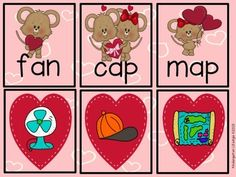 Love 2 Learn Kinder Math & Literacy Activities for Valentines