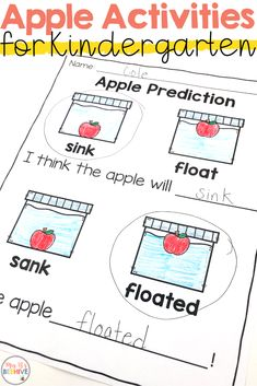 Hands-on apple activities for the pre-k and kindergarten classroom. Use these engaging activities to increase skills in language arts, math, science, and social studies! Apple Activities Kindergarten, Kindergarten Social Studies, Pre K Activities, Social Studies Activities, Preschool Curriculum, Preschool Science, Preschool Lessons, Kindergarten Science Projects, Autumn