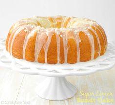 Super Lemon Bundt Cake. The softest lemon bundt cake packed with SO much lemony flavor. For true lemon lovers!