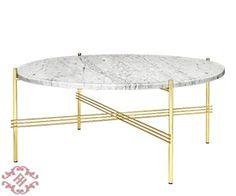 Фото - Кофейный столик Gamfratesi TS  Gubi  Bianco Carrara Marble (White) and  Brass