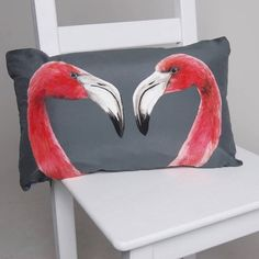 flamingo home decor cushion, katie and the wolf