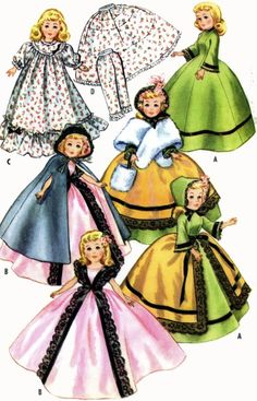 Vintage Doll Clothes PATTERN 2397 for 20 inch Revlon Toni Sweet Sue Cindy
