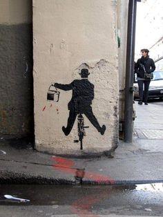 subtraction graffiti Nick Walker, Paris Banksy Graffiti & Street Art At Portobello (Dublin) 3d Street Art, Street Art Graffiti, Graffiti Artwork, Urban Street Art, Amazing Street Art, Street Artists, Amazing Art, Graffiti Lettering, Awesome