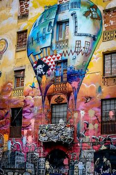 Barri de Sant Antoni , Barcelona art street Catalonia street and graffiti art inspiration 3d Street Art, Street Art Graffiti, Street Art Utopia, Urban Street Art, Murals Street Art, Amazing Street Art, Street Artists, Urban Art, Awesome Art