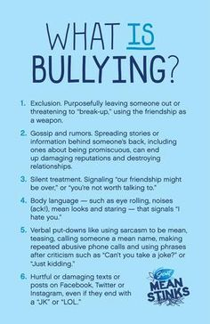 What is bullying? Just in case you are confused.