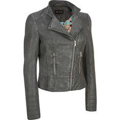 Gray Moto Jacket Women's Black Rivet Faux Leather Asymmetric Moto Jacket | eBay