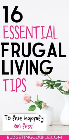 Check out the *essential* frugal living tips and tricks you need to live happily on less money. Find out how to easily live below your means when you utilize these simple (yet effective) frugal tips and money saving habits in your everyday life! Best Money Saving Tips, Ways To Save Money, Money Tips, Saving Money, Money Hacks, Living On A Budget, Frugal Living Tips, Frugal Tips, Tips And Tricks