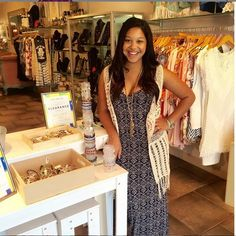 >> Meet Mary <<  One of our #stylist here at #LilacAndLiliesBoutique! Mary is rocking our #GentleFawn Maxi {$82.00} + our favorite crochet vest {$64.00} paired with tons of #AlexAndAni accessories •• Call today to schedule an appointment with her! << Please call 954.530.3109!  #MeetTheStylist #Stylist #AlexAndAni #Sale #HappeningNow #Boutique #Shopping #ShopLocal #FortLauderdale #Miami #BocaRaton #Weekend #Style
