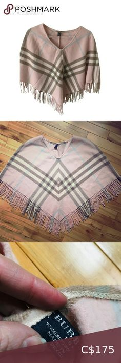 BURBERRY ⭐️Authentic Burberry baby pink poncho Authentic Burberry merino wool & cashmere Beige Pink Blue Supernova Check Poncho/Cape with fringe Own a gorgeous luxury piece at an affordable price! Very slight wear imperfections as shown reflect price. These go unnoticed unless pointed out. FREE Burberry glasses case with purchase! Burberry Sweaters Shrugs & Ponchos Burberry Glasses, Glasses Case, Plus Fashion, Fashion Tips, Fashion Trends, Shrug Sweater, Fall Wardrobe, Sleeveless Blouse, Laptop Sleeves