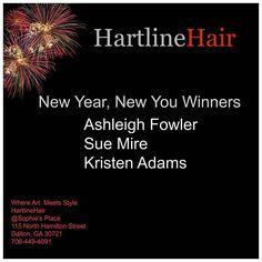 Winners of HartlineHair New You New Year! . . . . . . . .  #newyear #2017 #newyou #winners