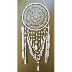 Extra grote witte en gouden parels & juwelen Dreamcatcher