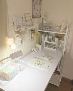 Study Room Decor, Cute Room Decor, Study Rooms, Room Ideas Bedroom, Bedroom Decor, Study Desk, Study Space, Desk Space, Work Desk Decor