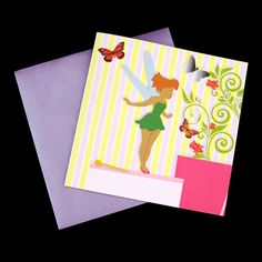 Check out this sweet #card designed by hand, which can be personalized to your requirements. Perfect for #parties, #baby #showers, #christenings, #announcements for #girls.
