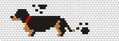 Kandi Patterns for Kandi Cuffs - Animals Pony Bead Patterns Pony Bead Patterns, Kandi Patterns, Peyote Patterns, Beading Patterns, Cross Stitch Designs, Cross Stitch Patterns, Graph Design, Dog Pattern, Beaded Animals
