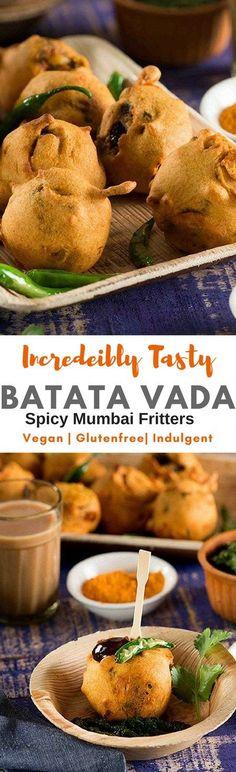 Incredibly delicious BATATA VADA recipe.Popular Street Food of Mumbai Stuffed Potato filling in glutenfree Chickpeas batter deep fried and served hot is insanly delicious. #Vegan #glutenfree #IndianSnack #Teatime snack via @rekhakakkar