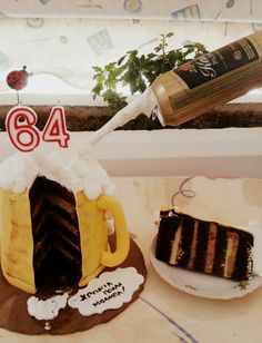 Μy dad's birthday cake. Banoffee flavoured.