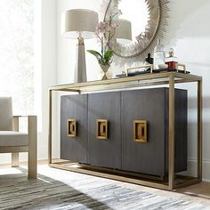 The Soho credenza collection is nothing less than a functional modern art collection. Each style draws its influence from the great designers and artists who pushed the boundaries of creativity Art Cabinet, Sideboard Cabinet, Credenza Decor, Do It Yourself Furniture, Couch Set, Deco Design, Cuisines Design, Mid Century Furniture, House Rooms