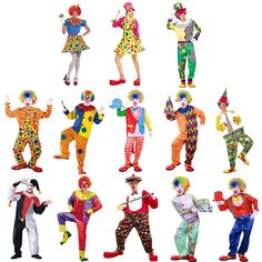 Halloween Costumes Adult Women Men Funny Clown Costume Naughty Harlequin Uniform Fancy Cosplay Clothes for Men Women