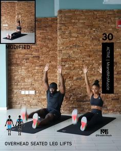 Fitness Workouts, Full Body Hiit Workout, Gym Workout Videos, Gym Workout For Beginners, Fitness Workout For Women, At Home Workouts, Workout Abs, Workout Challenge, Pilates
