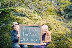 Alternative to photo booth at a wedding... advice on a chalkboard. cute!