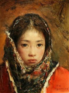The Silk Road Young Bride Little Girl (more paintings of Tang Wei Min on Cuaderno de Retazos, the best site for Chinese art)