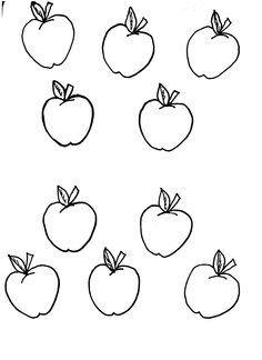 Apples | Printable Templates & Coloring Pages | FirstPalette.com ...