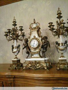 Gebruikt: klok met engelen in goede werkende staat 350eu (Klokken & Barometers) - Te koop voor € 350,00 in Beerse