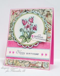 Year in flowers: Cyclamen ; Spellbinders Nest. Classic circles ; Lacy circles