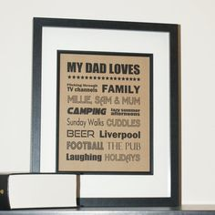 Personalised 'My Dad Loves' Father's Day Print  by CiliegiaDesigns, £8.00