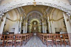 Interior Santuario Mare de Deu dels Angels, San Mateo, Maestrazgo, Castellón. Spain.