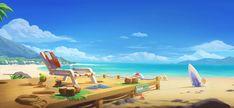Environment Design, Outdoor Furniture, Outdoor Decor, Sun Lounger, Beach Mat, Outdoor Blanket, Landscape, Mobile Game, Slot