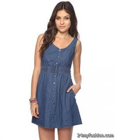 Nice Denim summer dress 2018-2019
