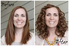 how to EASILY get super awesome curly hair Must try this! } Sugar Bee Crafts