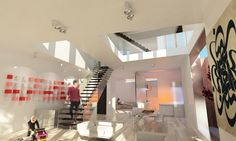 Amazing and creative use of staircase with clear glass barriers with hidden #skylights. Designed by Omid. Get matched with the right design professional for your home project on www.designforme.com