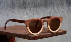 Bodi Glasses - Handmade Wooden Sunglasses. $225.00, via Etsy.