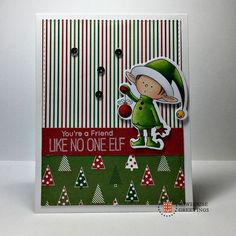 Cute Christmas Card Handmade For Friend  by RowhouseGreetings