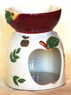 Apple Decorated Wax Burner by JKL. $14.99